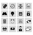 miscellaneous icons vector image