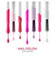 nail polish examples realistic set vector image