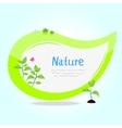 sticker green vector image