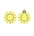 sun and light bulb vector image