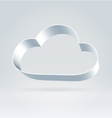 Metallic ribbon cloud vector