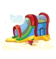 inflatable castles and vector image