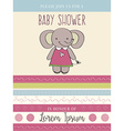 baby shower card with cute little mouse vector image