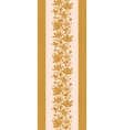 Textured wooden magnolia flowers vertical seamless vector image