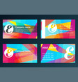 Set of templates for business cards elements for vector image