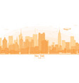 new york city banner panorama buildings landmarks vector image