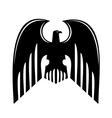 Black heraldic eagle vector image