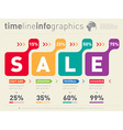 Sale infographic time line Timeline of Social vector image vector image