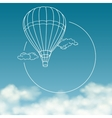 Balloon on background of cloudy sky with space for vector image vector image
