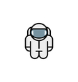 astronaut robot toy icons vector image
