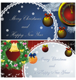 landscape new year card vector image vector image