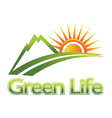 green life vector image vector image