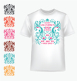 t-shirt with abstract heart vector image