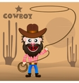 Cheerful cowboy vector image