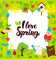 i love spring paper concept vector image