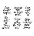 inspirational lettering set vector image