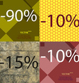 10 15 icon Set of percent discount on abstract vector image