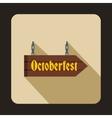 Oktoberfest signboard icon flat style vector image