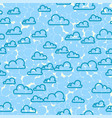 cloud sky seamless pattern cartoon weather vector image