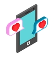 Chat bubbles with heart vector image