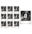 Photo countdown vector image vector image