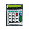 calculator icon business concept with mathematics vector image