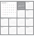 Calendar Planner Design Week starts from Sunday vector image