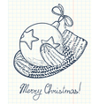 Christmas doodle decoration vector image