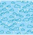 Cloud sky seamless pattern cartoon weather vector image