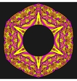 Colorful ornamental ethnic card with mandala vector image