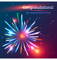 Congratulatory fireworks vector image
