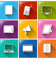 different color of communication icons vector image