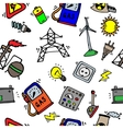 Energy Icons Pattern vector image