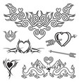 love tattoo vector image