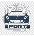 silhouette racing sports cars vector image