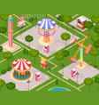 summer amusement park for children vector image