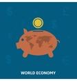 World economy vector image