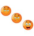 Cartoon Orange Fruit Set 4 vector image