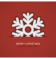 modern christmas snowflakes on red vector image