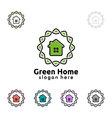 Green home logo real estate logo design vector image