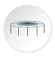trampoline jumping icon circle vector image