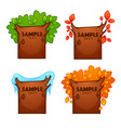 summer spring autumn winter banners for your vector image