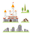 castle game screen concept adventurer rpg flat vector image vector image
