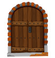 medieval style of wooden door vector image vector image