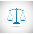 Law Symbol Justice Scales Icon Design Template on vector image