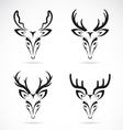 group of deer head vector image