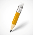 Realistic yellow pencil vector image
