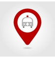 Ambulance map pin icon vector image