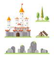 castle game screen concept adventurer rpg flat vector image