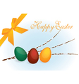 colourful easter eggs vector image